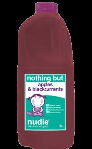 Nudie Apple Blackcurrants 2L Front Label