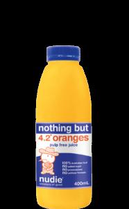 Nudie Orange Pulp Free 400ml
