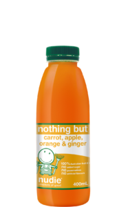 Nudie Nothing But Carrot Apple Orange & Ginger 400ml Front Label