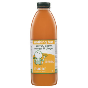 Nudie Nothing But Carrot, Apple, Orange & Ginger 1l New Label