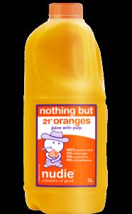 Nudie 2L Orange Juice With Pulp