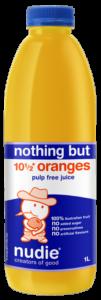 Nothing But Orange Pulp Free Juice 1L