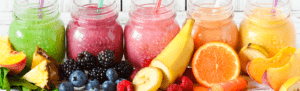 Smoothies in a jar